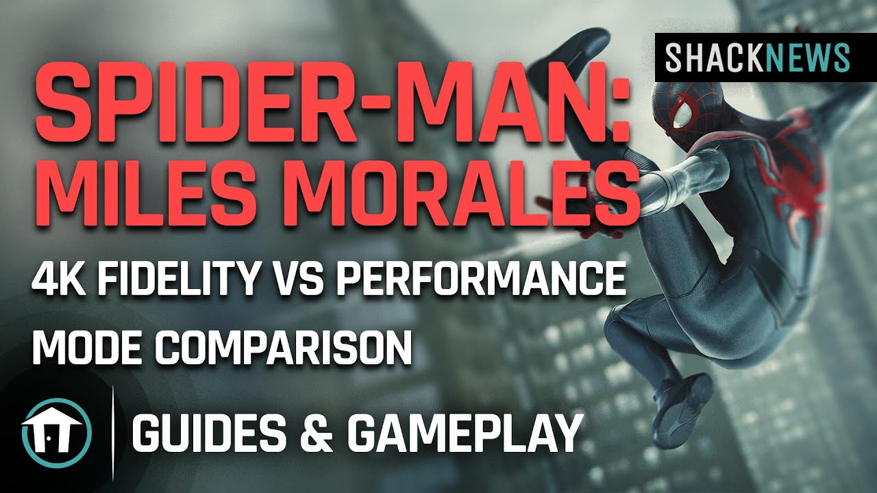 Marvel's Spider-Man: Miles Morales - 4K Fidelity vs Performance mode comparison