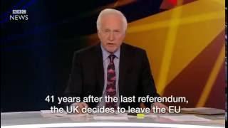 The moment BBC announces Brexit