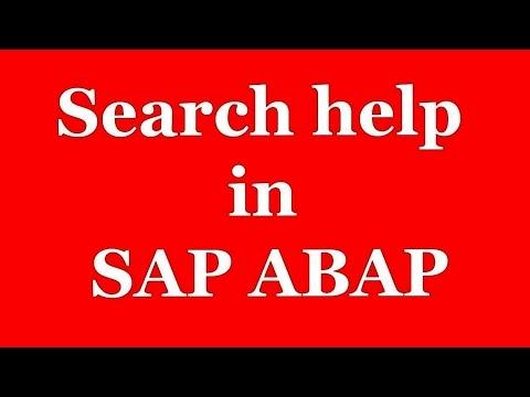 Search Help in SAP ABAP Video Tutorial