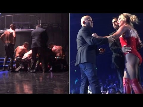 Britney Spears Threatened As Crazed Fan Storms Stage During Vegas ...