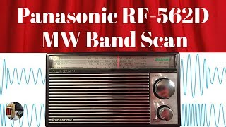 Panasonic RF-562D Portable | Evening AM & MW Band Scan