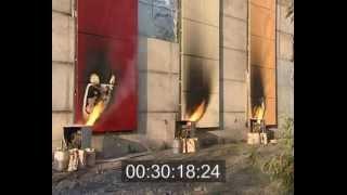 Вогневі випробування композитних панелей класу Г1
