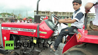 India: Watch little boy perform dare devil stunts on his tractor