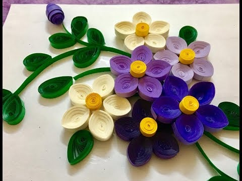 Easy Paper Quilled Card   Wall Art   Design#2