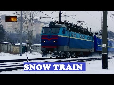 Kiev Lviv Ukraine Train In Snow