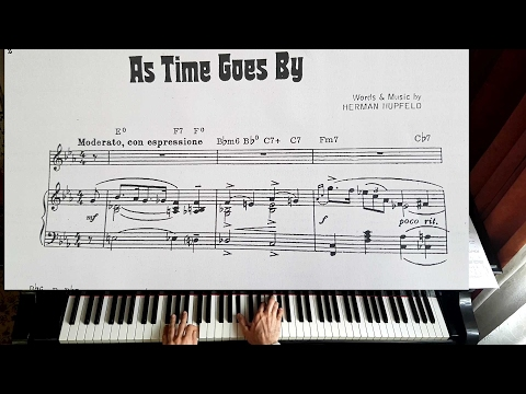 As Time Goes by - Casablanca - Piano Tutorial