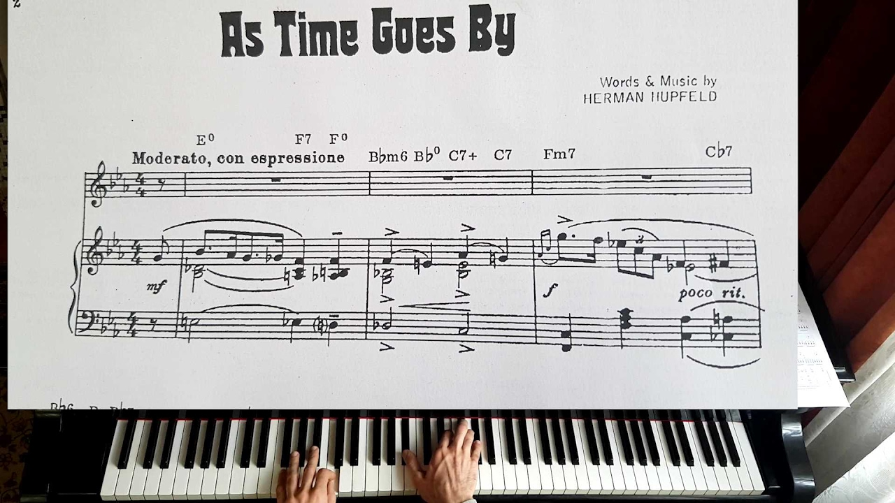 As Time Goes By Casablanca Piano Tutorial Youtube