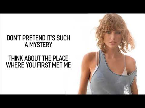 Taylor Swift - Getaway Car (Lyrics / Lyric Video) | Cover Acoustic | Official | HD | 2017 |