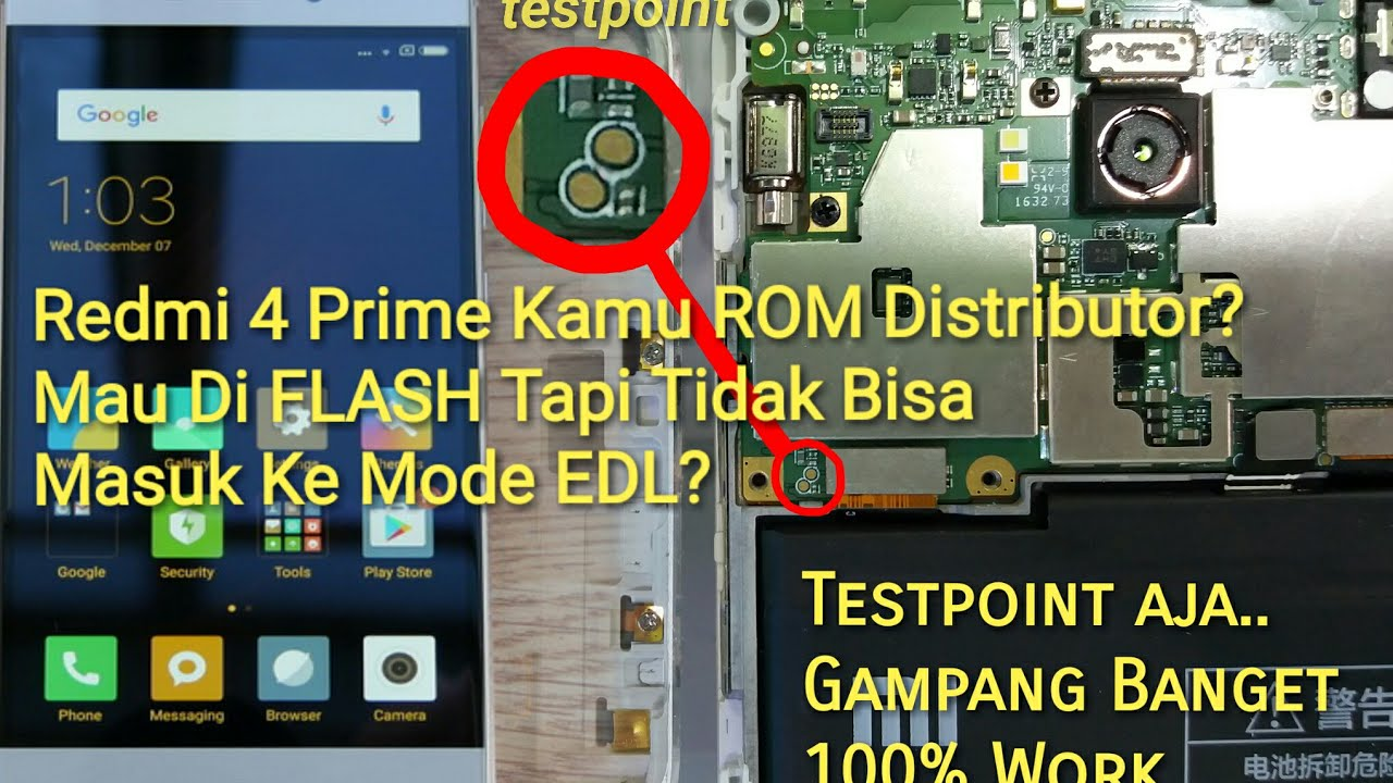 Test point Flash Xiaomi Redmi 4 Prime Unbrick (Can Note EDL Mode) Flashing  ROM Global