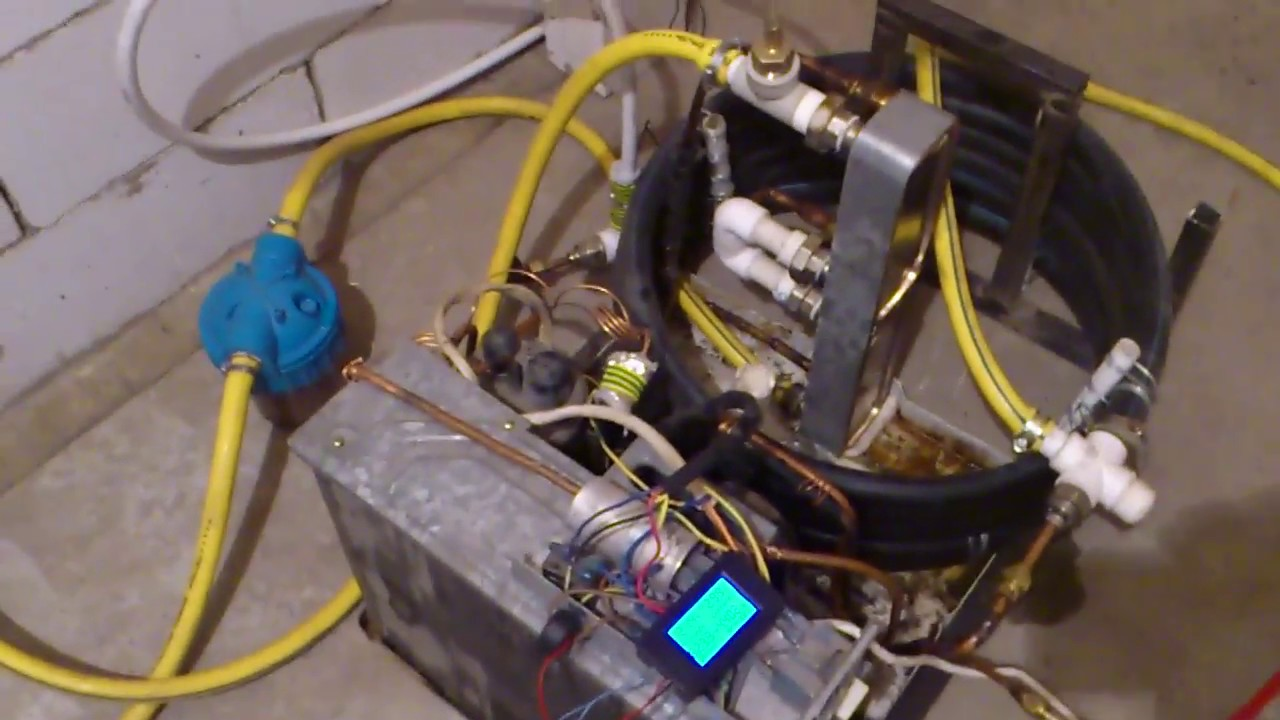 Самодельный тепловой насос вода-вода из оконного кондиционера.