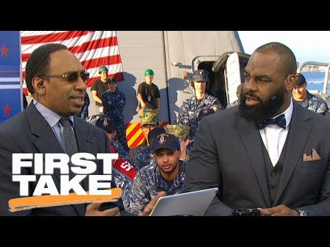 Stephen A. Smith and Donovan McNabb have fiery debate over NFL rankings | First Take | ESPN