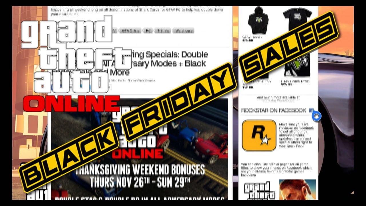 Gta 5 Online Black Friday Sales Youtube