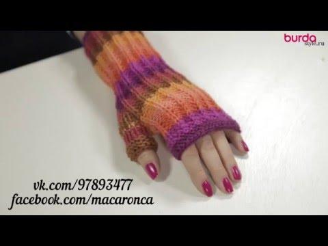 Вязание перчаток спицами -