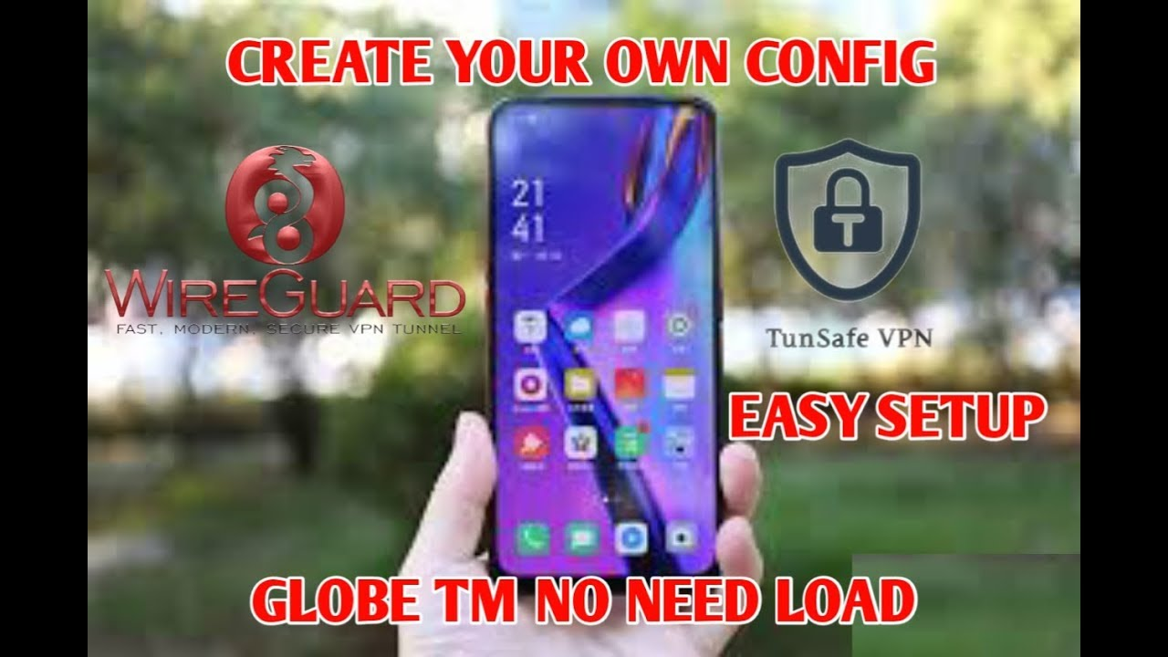 HOW TO CREATE YOUR OWN CONFIG FOR GLOBE TM NO NEED LOAD WIREGUARD OR  TUNSAFE USING TERMUX