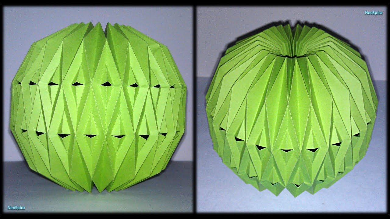 Tutorial 26 - Accordion Ball Paper Fold and Cut Decoration ... - photo#10