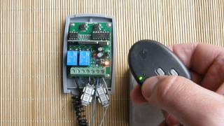 universal rolling fixed code receiver programming procedure with proteco 433 92mhz remote controls