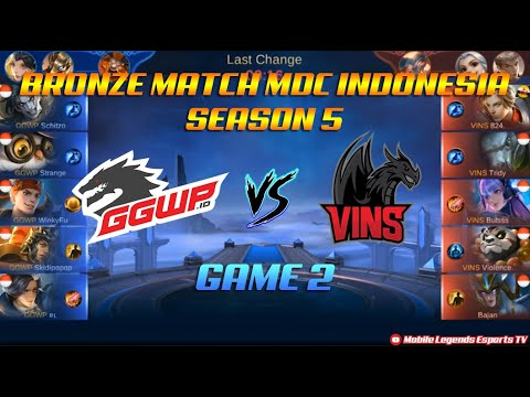 Vins Esport VS GGWP.id - Bronze Match GAME 2 MDC SERIES Indonesia Season 5