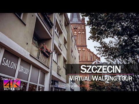 【4K 60fps】VIRTUAL WALKING TOUR: 🚶 «Szczecin - Poland 2021» 🎧 Binaural Sounds UltraHD (for 2160p TV)