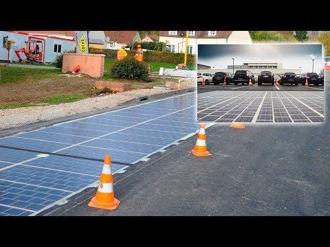 Solar panels in the Roads | Road solar panels - green energy project | New technologies