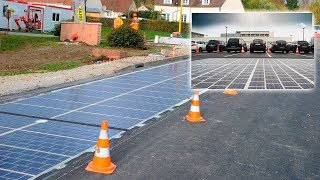 Solar panels in the Roads | Road out solar panels - green energy project | New technologies