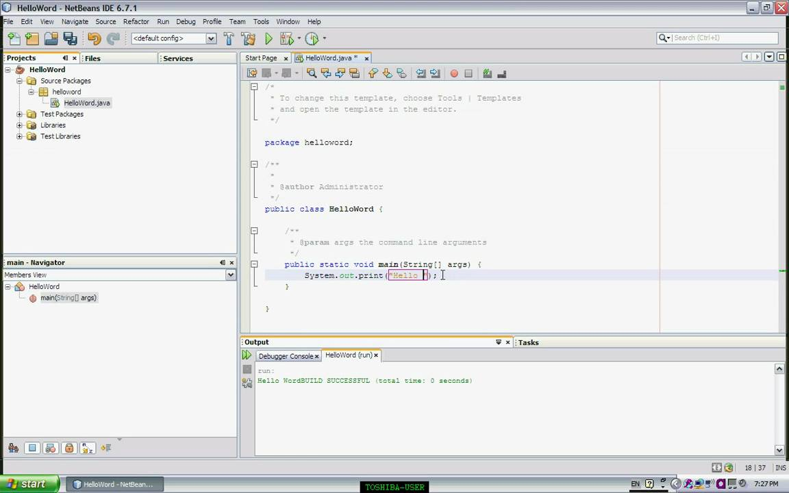 how to create a simple mobile application in netbeans