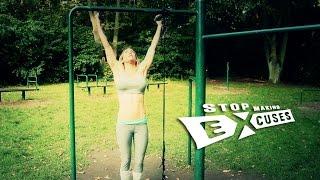 "Cornelia Ritzke: Calisthenics HIIT (advanced) ""Stop Making Excuses"" - deutsch / english subs"