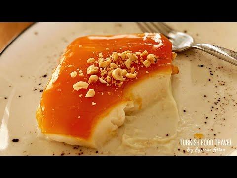 Turkish Milk Pudding With Caramel Sauce - Fake Chicken Breast Pudding