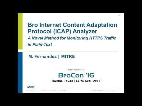 The Bro ICAP Analyzer by Mark Fernandez