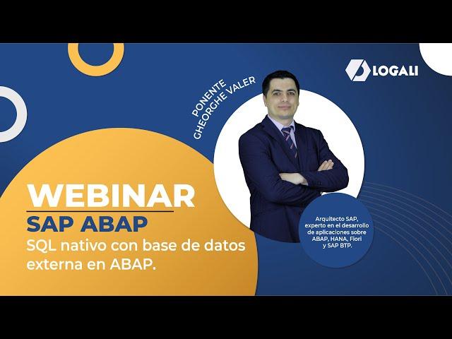 Webinar SAP ABAP - SQL nativo con base de datos externa en ABAP.