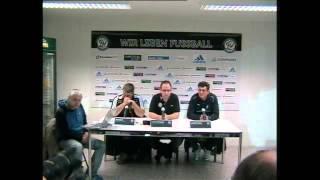 Pressekonferenz SV Elversberg - SV Waldhof Mannheim / 03.04.2013