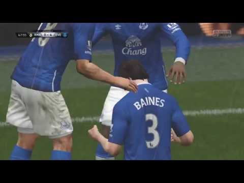 LEIGHTON BAINES FREE KICK GOAL EVERTON AGAINST REAL MADRID FIFA 16 PS4