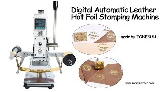 How to make the Digital Automatic Leather Hot Foil Stamping Machine Manual Embossing Tool