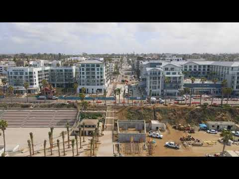 Seabird and Mission Pacific Hotels, Oceanside, CA - Drone Video