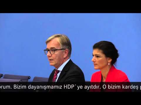 Wagenknecht/Bartsch, DIE LINKE: Bizim dayanışmamız HDP`ye ayıtdır. Unsere Solidarität gehört der HDP