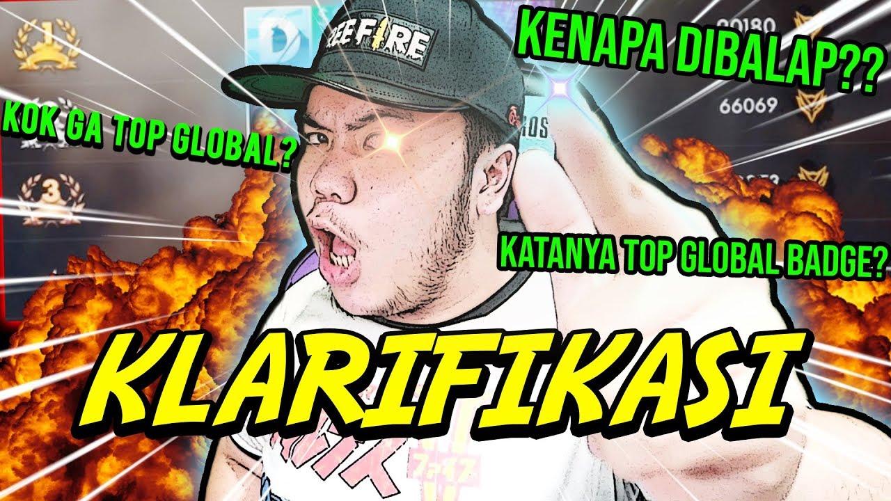 KENAPA TOP GLOBAL BADGE SULTAN DIBALAP?? INI KATA BOS FREE FIRE! - Free Fire Indonesia #72