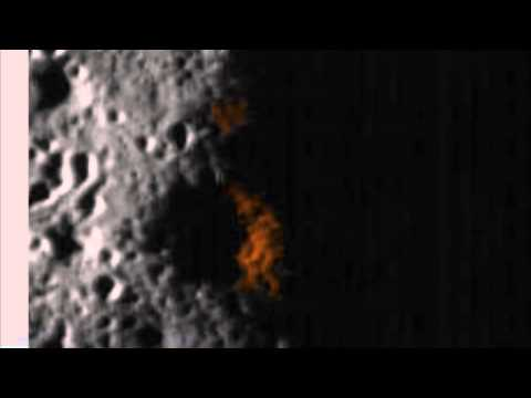 Alien Figure And Writing In Moon Crater, Also Ship and Building. April 12, 2014, UFO Sighting Daily.