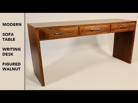 Make a Modern Walnut Sofa Table / Writing Desk