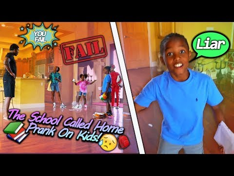 THE SCHOOL CALLED HOME PRANK ON MY KIDS!