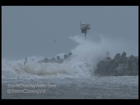 Manasquan, NJ Intense Nor'easter Tropical Storm Force Winds - 1/23/2017