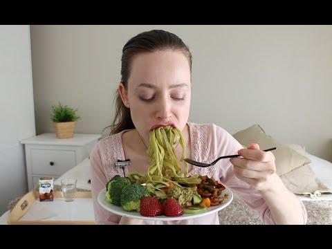 ASMR Whisper Eating Sounds | Broccoli Pasta, Fried Mushrooms & Salad