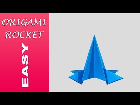 How To Make Easy Paper Rocket At Home : Diy Paper Rocket : By Soumens Origami & Crafts