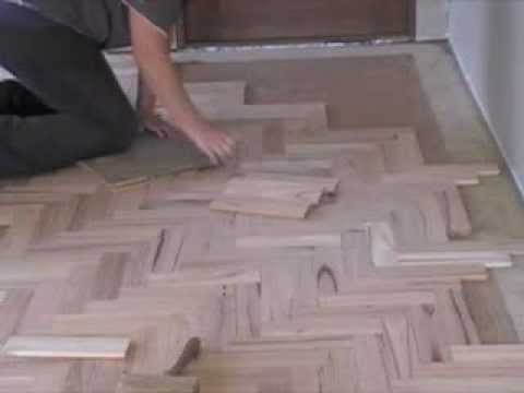 Laying parquetry