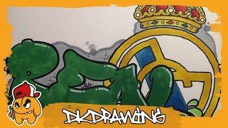 Football Graffiti Tutorials - How to draw a Real Madrid Graffiti