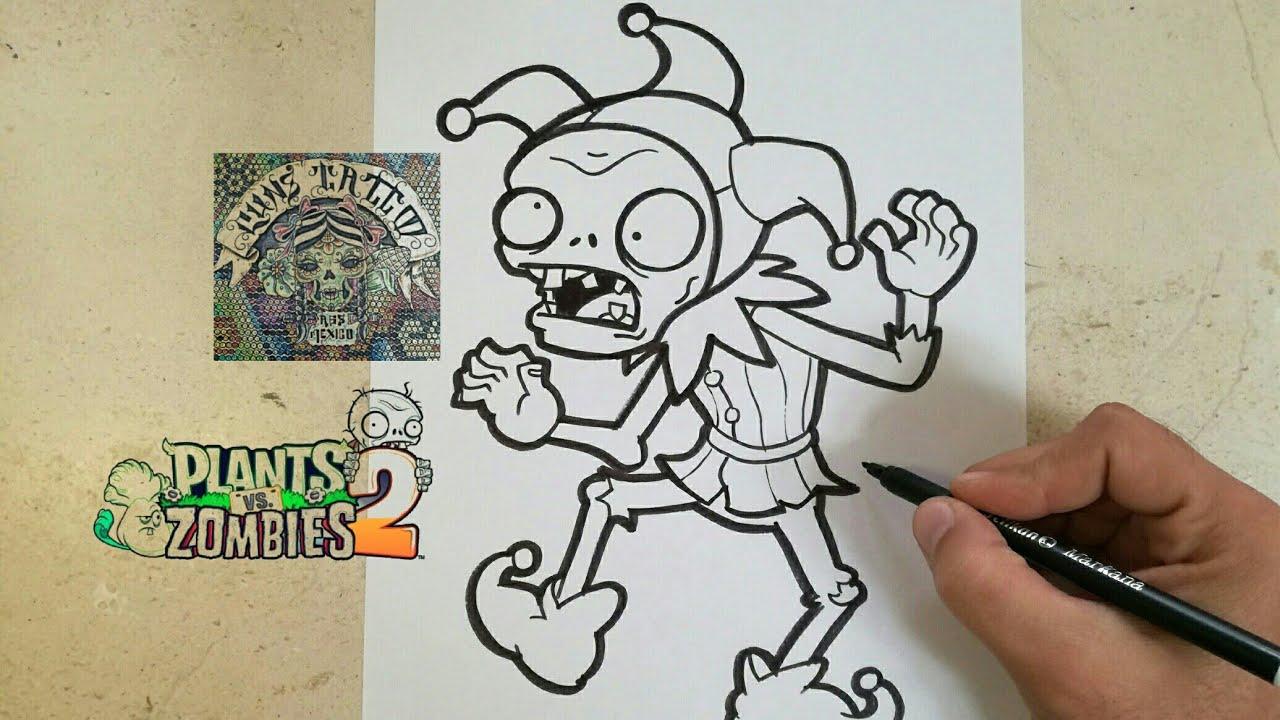 Como Dibujar Al Zombie Bufon Plants Vs Zombies