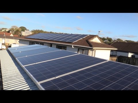 Mikes DIY Powerwall Update 35 - Solar on Garage Roof Installed