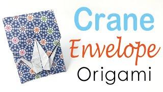 Origami Paper Crane Envelope - DIY - Origami Kawaii〔#073〕