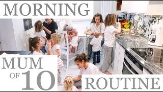 NEW MORNING ROUTINE with 10 CHILDREN (2/2) Video