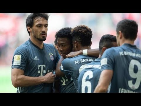 FORTUNA DUSSELD  1 -  4  BAYERN MUNICH MATCH REPORT