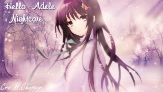 Repeat youtube video Hello - Adele (Nightcore)