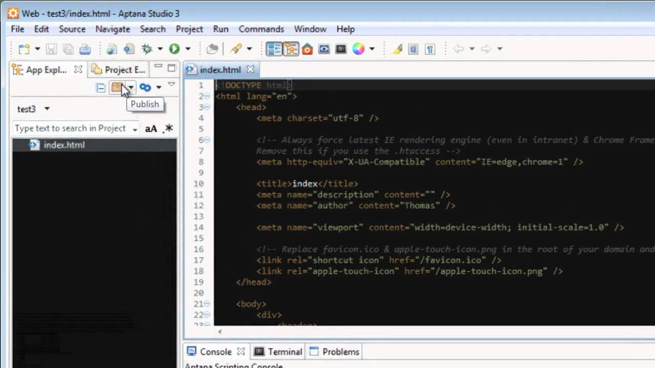 How to: Deploying a website with Aptana Studio